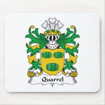Quarrel Family Crest Mousepad