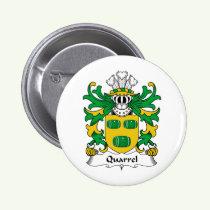Quarrel Family Crest Button