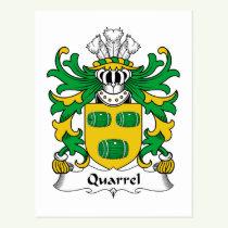 Quarrel Family Crest Postcard