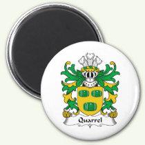 Quarrel Family Crest Magnet