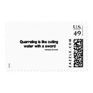Quarreling quote postage stamps