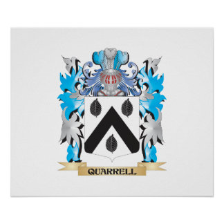 Quarrell Coat of Arms - Family Crest Poster