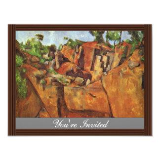 Quarry Bibémus By Paul Cézanne (Best Quality) Invite