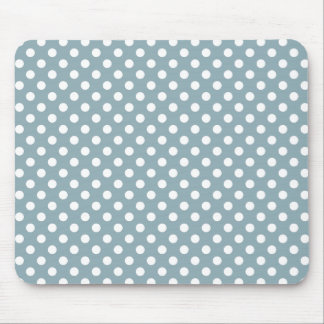 Quarry Blue Polka Dot Mousepad
