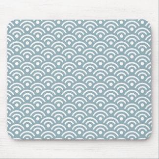 Quarry Blue Seigaiha Pattern Mousepad