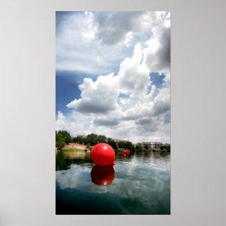 Quarry Lake Swim - Austin Texas Poster