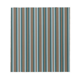 Quarry Teal Mod Alternating Stripes Notepad