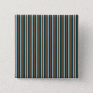 Quarry Teal Mod Alternating Stripes Pinback Button