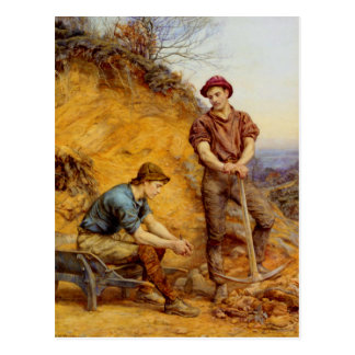 Quarry Workers by Wetherbee Postcard