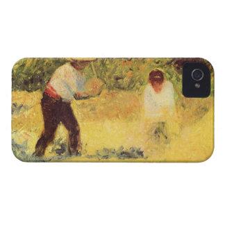 Quarrymen by Georges Seurat Case-Mate iPhone 4 Case