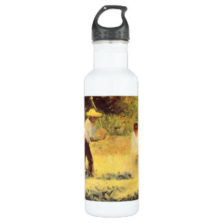 Quarrymen by Georges Seurat Water Bottle