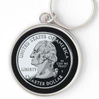 Quarter Dollar Keychain keychain