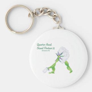 (Quarter Head Stand Posture) Button Keychain