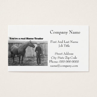 Quarter Horse and Horse Trader Vintage Photo Business Card