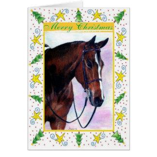Quarter Horse Blank Christmas Card