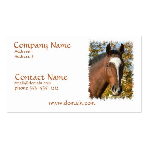 Quarter Horse Business Card