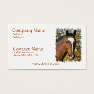 Quarter Horse Business Card