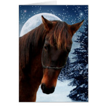 Quarter Horse Christmas Card