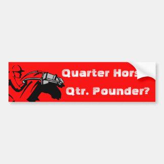 Quarter Horse Fast Food Race Slaughter Horses Car Bumper Sticker