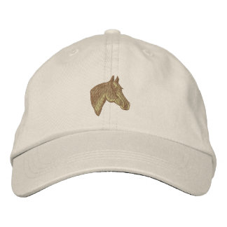 Quarter Horse Head Embroidered Baseball Cap