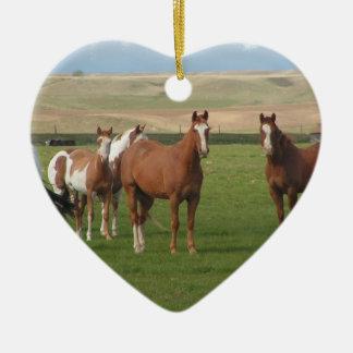Quarter Horse Herd Ornament