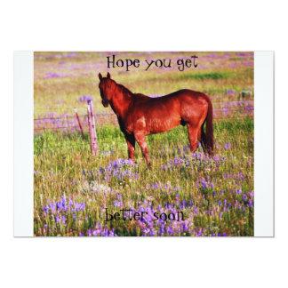 "quarter horse 5"" x 7"" invitation card"