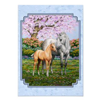 Quarter Horse Mare and Foal Blue Card