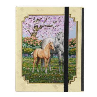 Quarter Horse Mare and Foal Yellow iPad Folio Cases