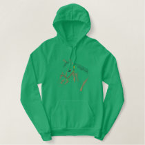 Quarter Horse Outline Embroidered Hoody