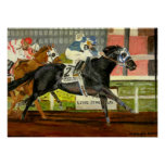 Quarter Horse Racing Portrait Posters