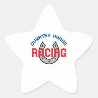 QUARTER HORSE RACING STAR STICKER