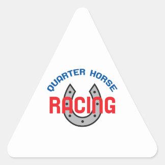 QUARTER HORSE RACING TRIANGLE STICKER