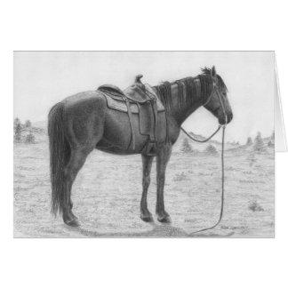 Quarter Horse Resting Card