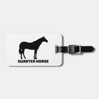 Quarter horse tag for luggage