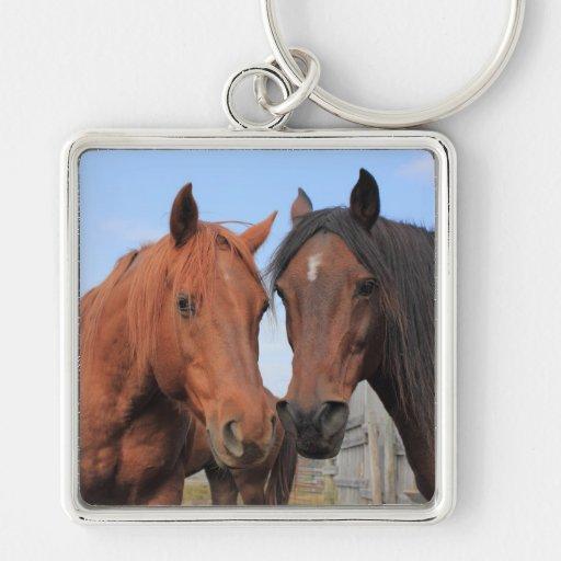 Quarter Horses Keychain