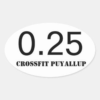 Quarter Mile Oval Sticker
