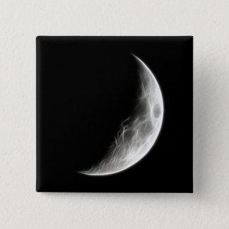 Quarter Moon Lunar Planet Globe Button