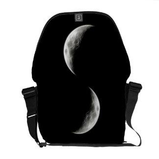 Quarter Moon Lunar Planet Globe Courier Bag