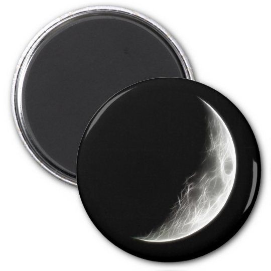 Quarter Moon Lunar Planet Globe Magnet