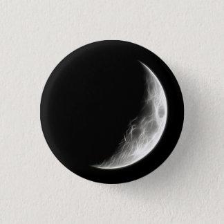 Quarter Moon Lunar Planet Globe Pinback Button