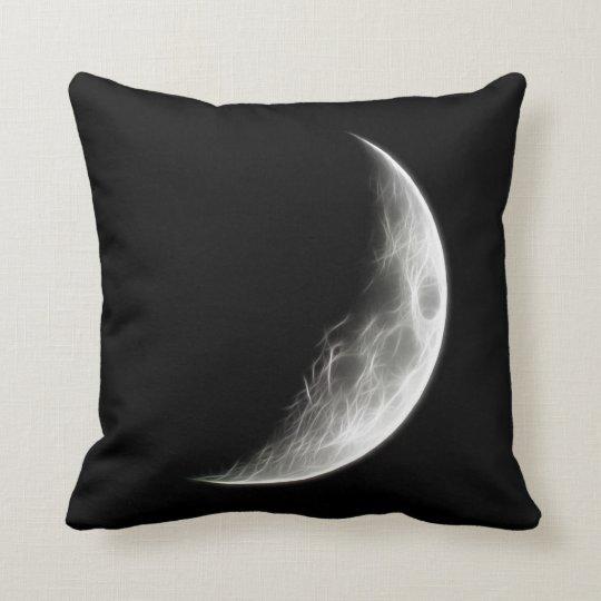 Quarter Moon Lunar Planet Globe Throw Pillow