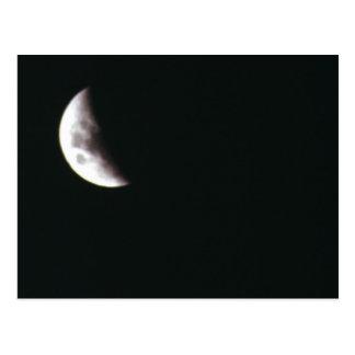 Quarter Moon Post Card
