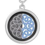 Quarter-moon Rose necklace