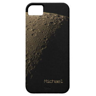 Quarter Moon with Highly Visible Craters iPhone 5 Covers