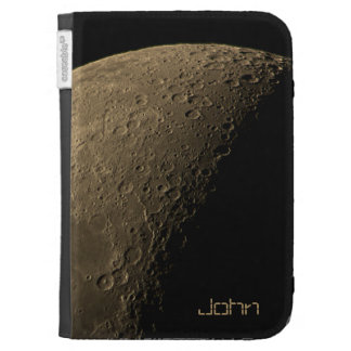 Quarter Moon with Highly Visible Craters Case For Kindle