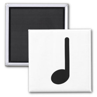 Quarter Note with Stem Facing Up 2 Inch Square Magnet