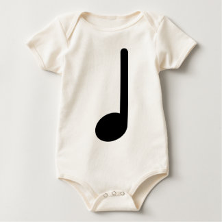 Quarter Note with Stem Facing Up Baby Bodysuit