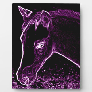 Quarter Pony Filly in Crazy Color Purple Plaque