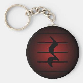 quarter rest basic round button keychain