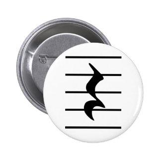 quarter rest pinback button